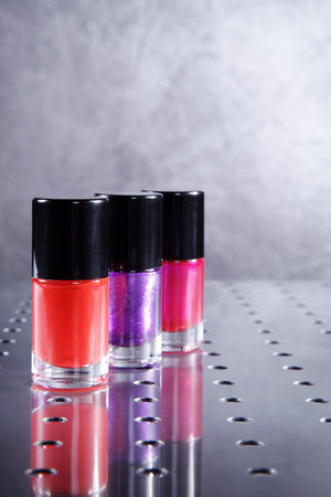 nail polishes in beautiful flacon photo