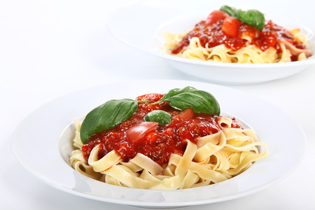 diat product: two noodle menus on white plate