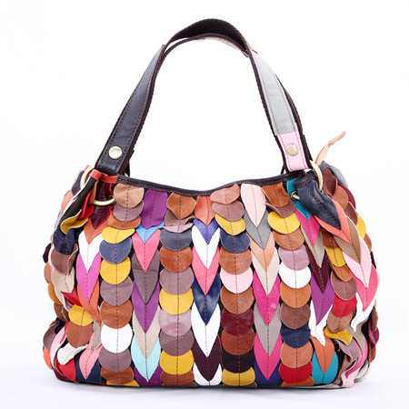 beautiful colored modern Italian handbag photo