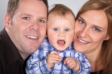 family portrait parents with son photo