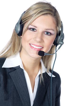 friendly business woman with heatset photo