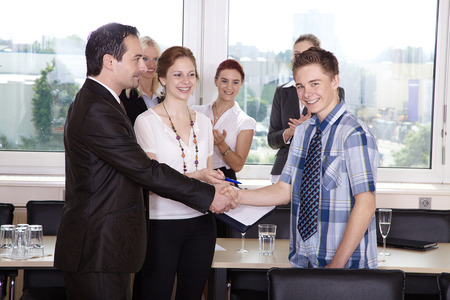 welcome business people photo
