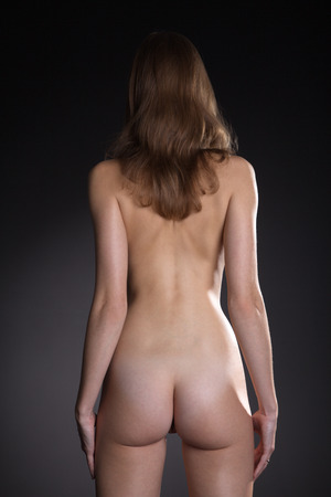 bare breasts: naked women back and butt view Stock Photo