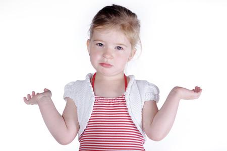 kleines Mädchen nicht weiß, was