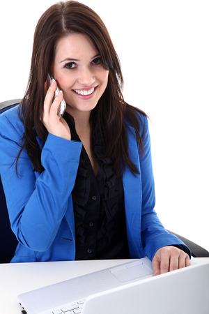 business woman with mobile phone photo