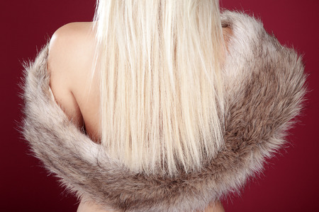 blonde fashion woman from behind photo