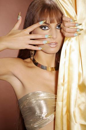 Mode-Modell im Cleopatra-Stil