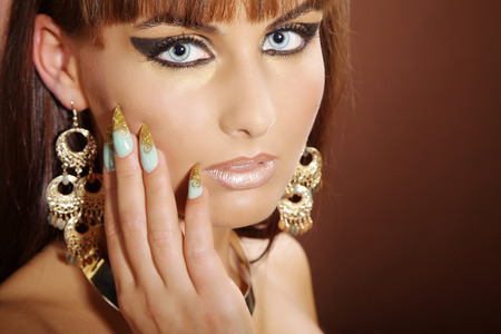 fashion model in Cleopatra style photo