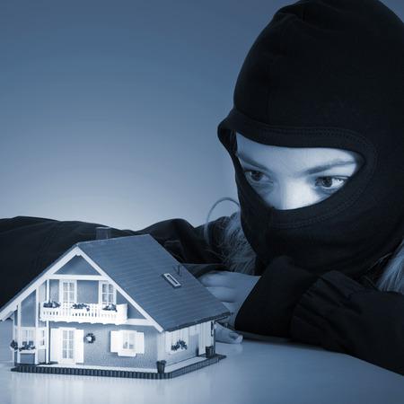 criminal people plans burglar in the house photo