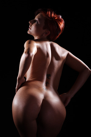 naked women back and butt view Stock Photo