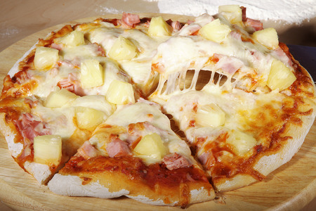 ham and cheese: pizza ham with pineapple and cheese
