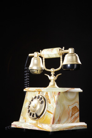 beautiful old marble antique telephone photo