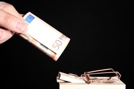 money fall on black  photo