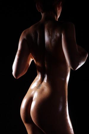 nackte Frauen Rücken und Hintern Blick