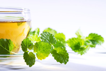 diat product: tea with mint on light  Stock Photo