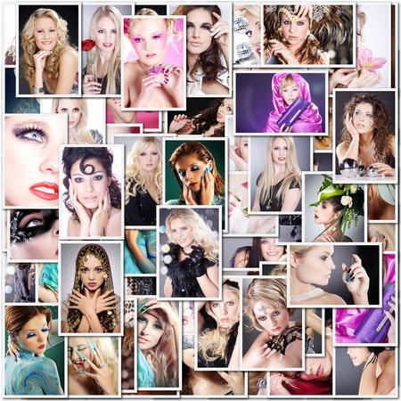 viele schöne Modelle als Collage