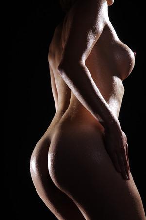 Frauen zurück Büste Ansicht Standard-Bild - 31502747