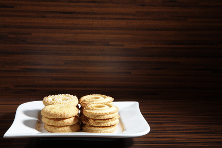 diat product: cookie served on white plate