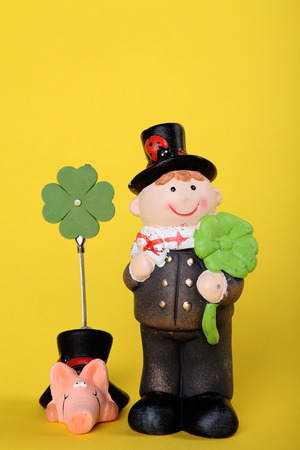 lucky charm for new year with chimney-sweep photo