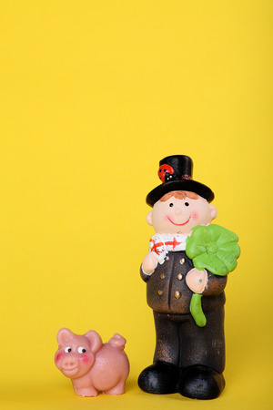 lucky charm: lucky charm for new year with chimney-sweep