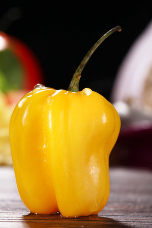 diat product: yellow pepper with blurred background