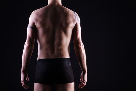 beautiful man rear body