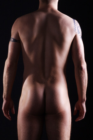 schöne nackte Körper Mann von hinten