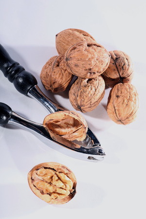 diat product: walnut shell opened with nutcracker