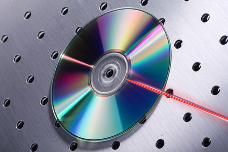 blueray: cd with laser basic on silver design Stock Photo