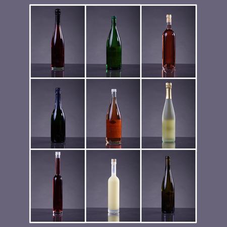 bebidas alcoh�licas: varias bebidas alcoh�licas en el estante