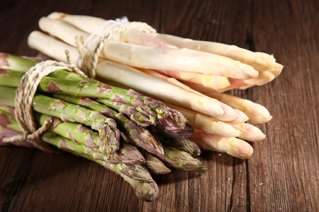 diat product: asparagus bundled bright and green Stock Photo