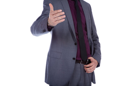 business man look friendly and greeting photo