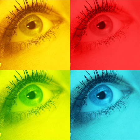 icon sign for eyes in colors Standard-Bild