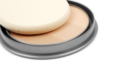 Face powder isolated on white background Stock Photo - 17700946