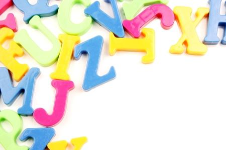 Colorful alphabet letters