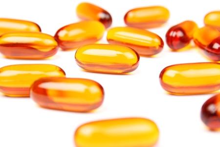 lecithin: Lecithin pills background