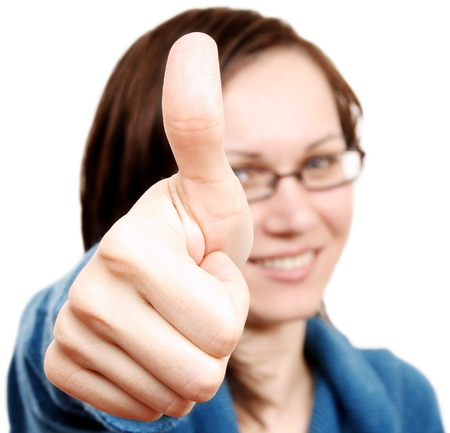 Young positive woman Stock Photo - 17718090