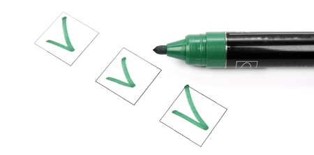 Check list and marker Stock Photo - 17829147