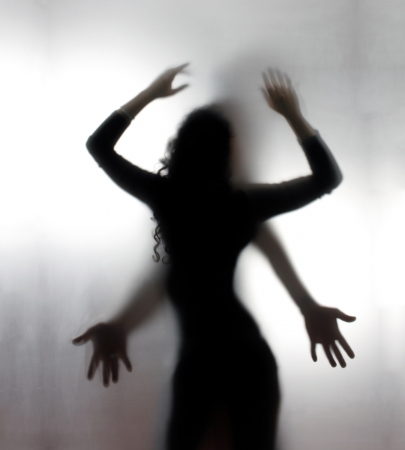 sex appeal: Silhouettes of a two lovers