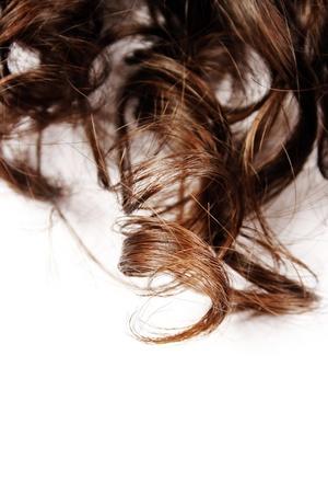 strand of hair: Closeup of beautiful human hair