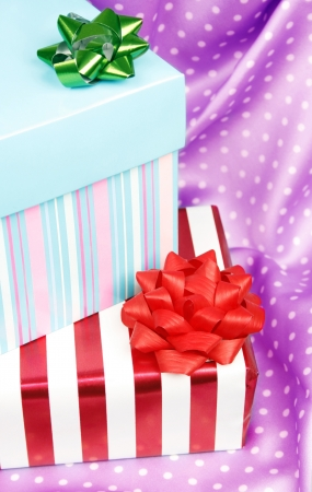 Two nice wrapped gifts Stock Photo - 17829265