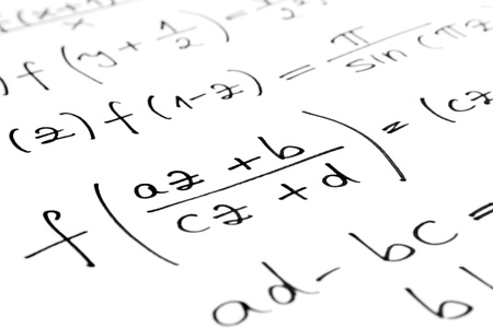 Equations on a sheet of paper photo