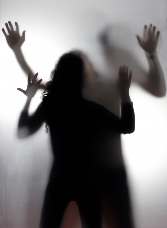 terror: Domestic violence Stock Photo