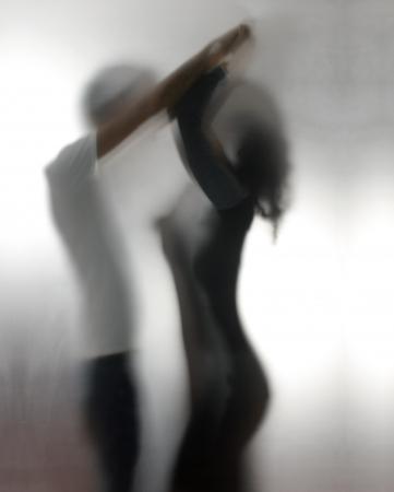 femme sexe: Silhouettes de deux amants un