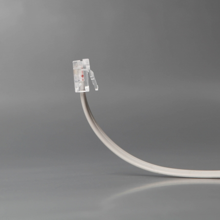 Network cable isolated on grey background photo
