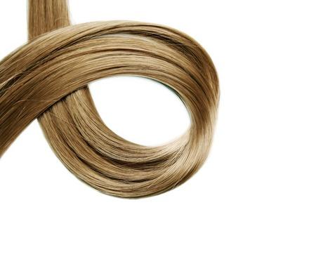 人間の髪の毛: 長い間人間の毛髪のクローズ アップ 写真素材