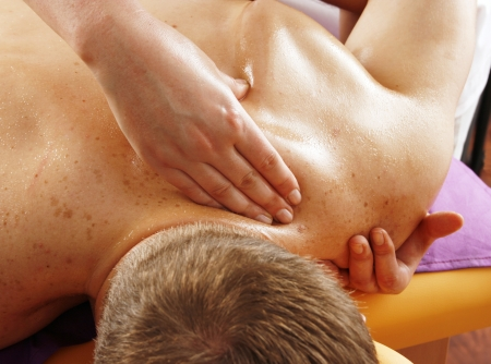 Back massage on a man Stock Photo - 17871838