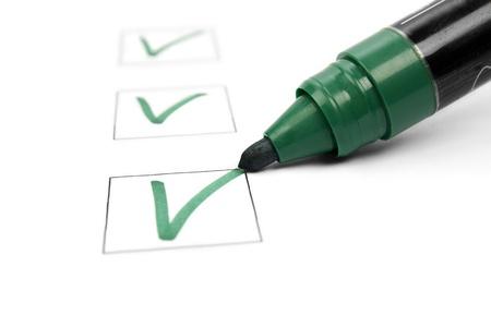 Checklist en marker Stockfoto