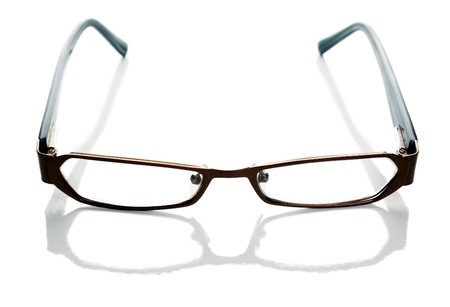 protecting spectacles: Glasses isolated on white background