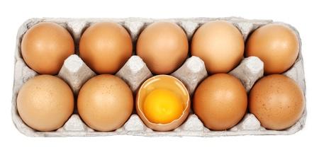 ailment: Broken egg in eggbox